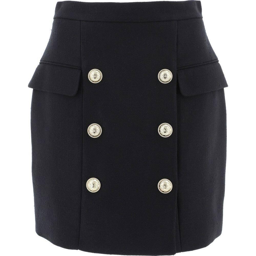 バルマン Balmain レディース スカート 【Skirt With Embossed Buttons】Black