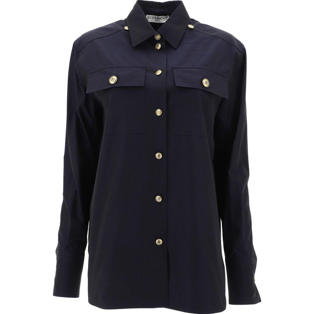 ジバンシー Givenchy レディース ブラウス・シャツ トップス【Poplin Shirt With 4G Buttons】Blue