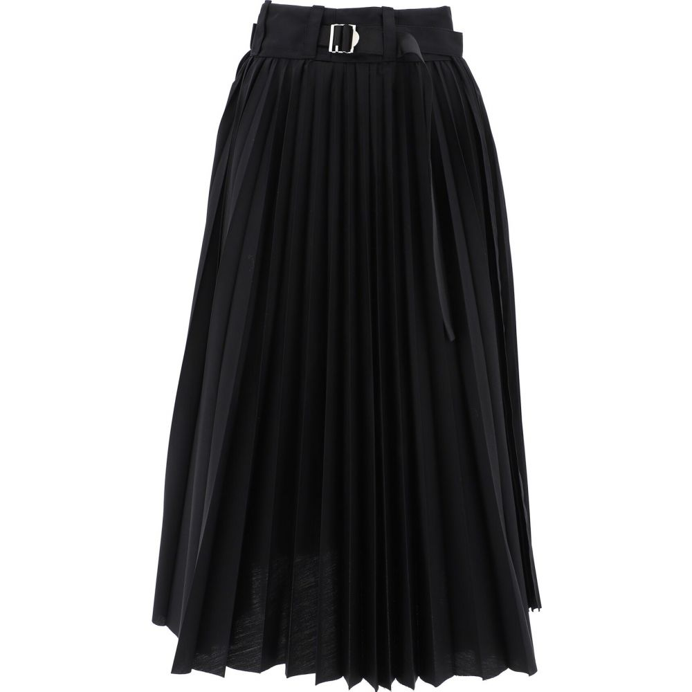 サカイ Sacai レディース スカート 【Pleated Skirt】Black