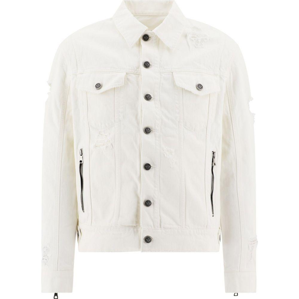 バルマン Balmain メンズ ジャケット Gジャン アウター【Denim Jacket With Rips】White