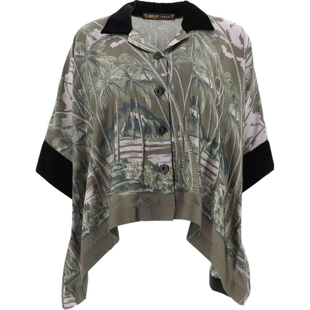 サカイ Sacai レディース ブラウス・シャツ トップス【Shirt With Tropical Print】Green