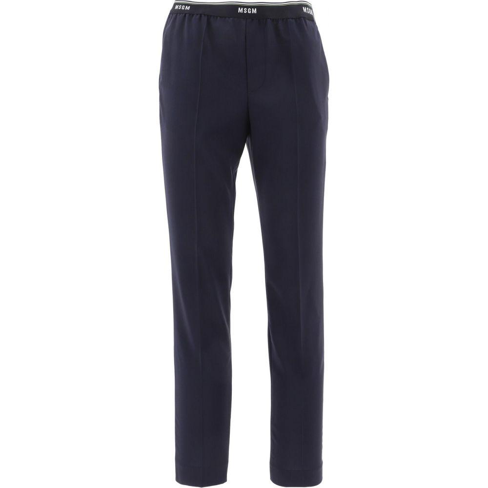 エムエスジーエム Msgm メンズ スラックス ボトムス・パンツ【Wool Pants With Logo Band】Blue