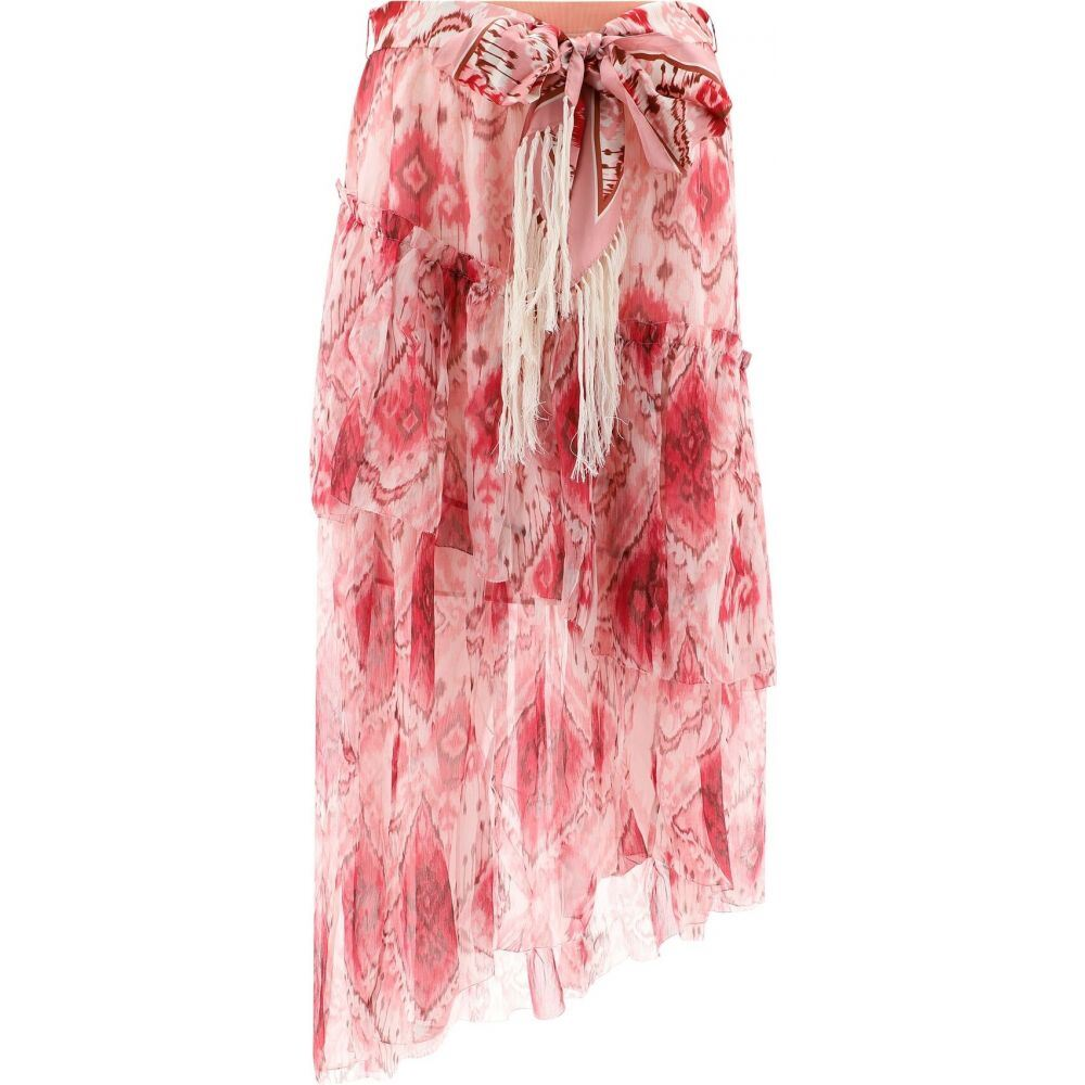 ジマーマン Zimmermann レディース スカート 【Georgette Skirt With Belt】Pink