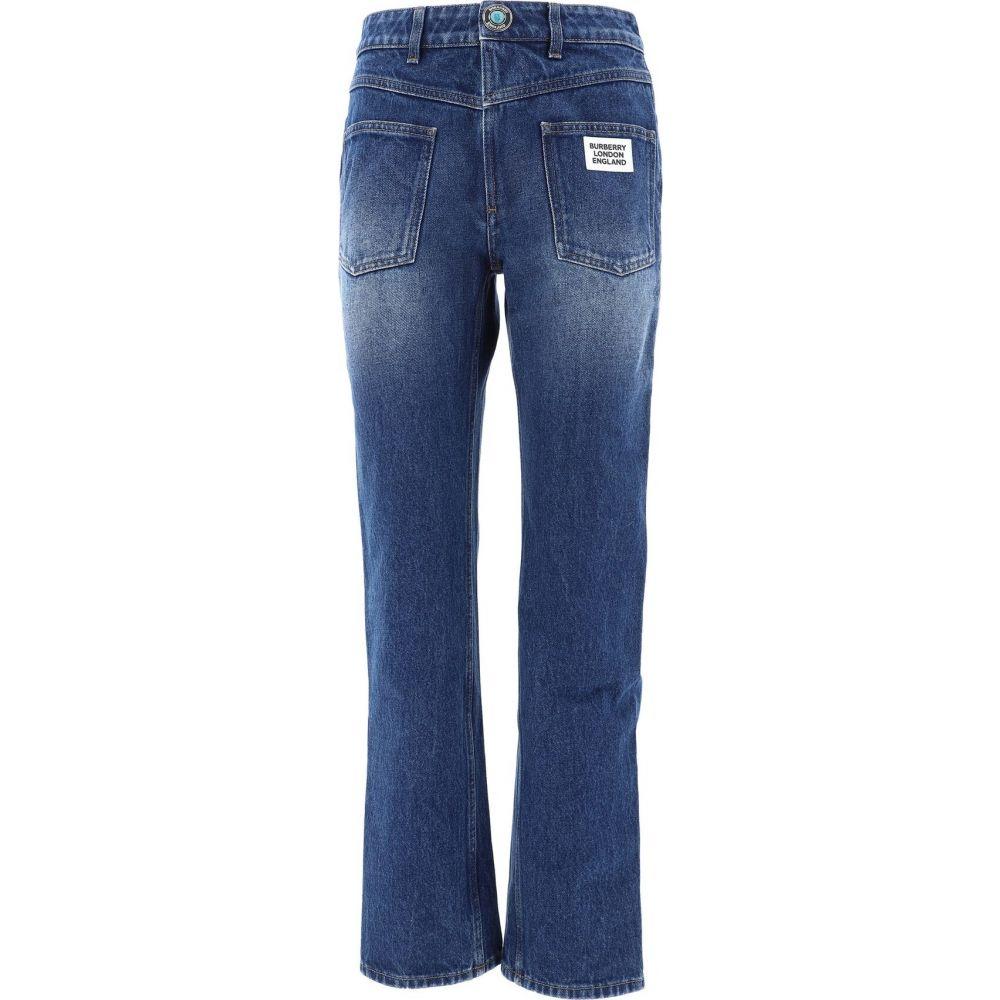 バーバリー Burberry レディース ジーンズ・デニム ボトムス・パンツ【Denim Trousers With Logo Patch】Blue