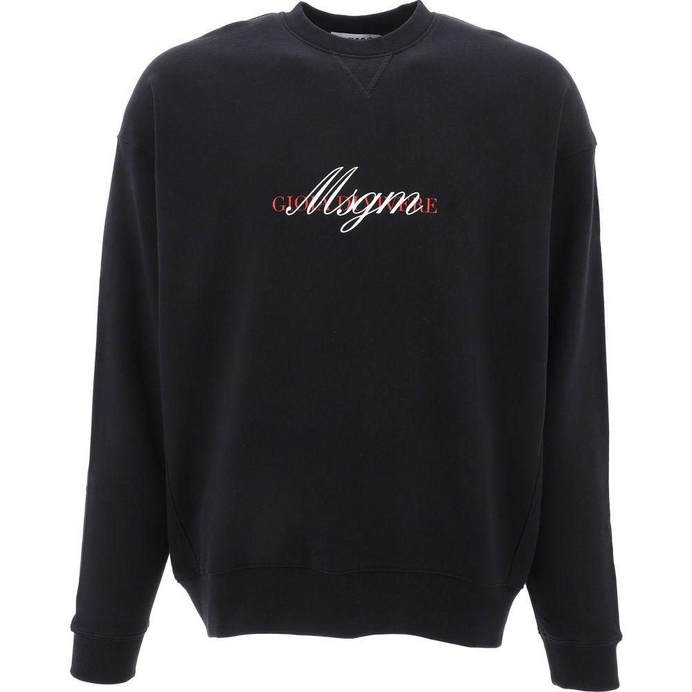 エムエスジーエム Msgm メンズ スウェット・トレーナー トップス【Sweatshirt with MSGM lettering print】Black