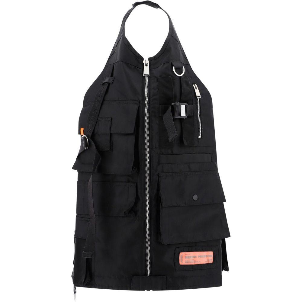ヘロン プレストン Heron Preston メンズ ベスト・ジレ トップス【Multipocket nylon vest】Black