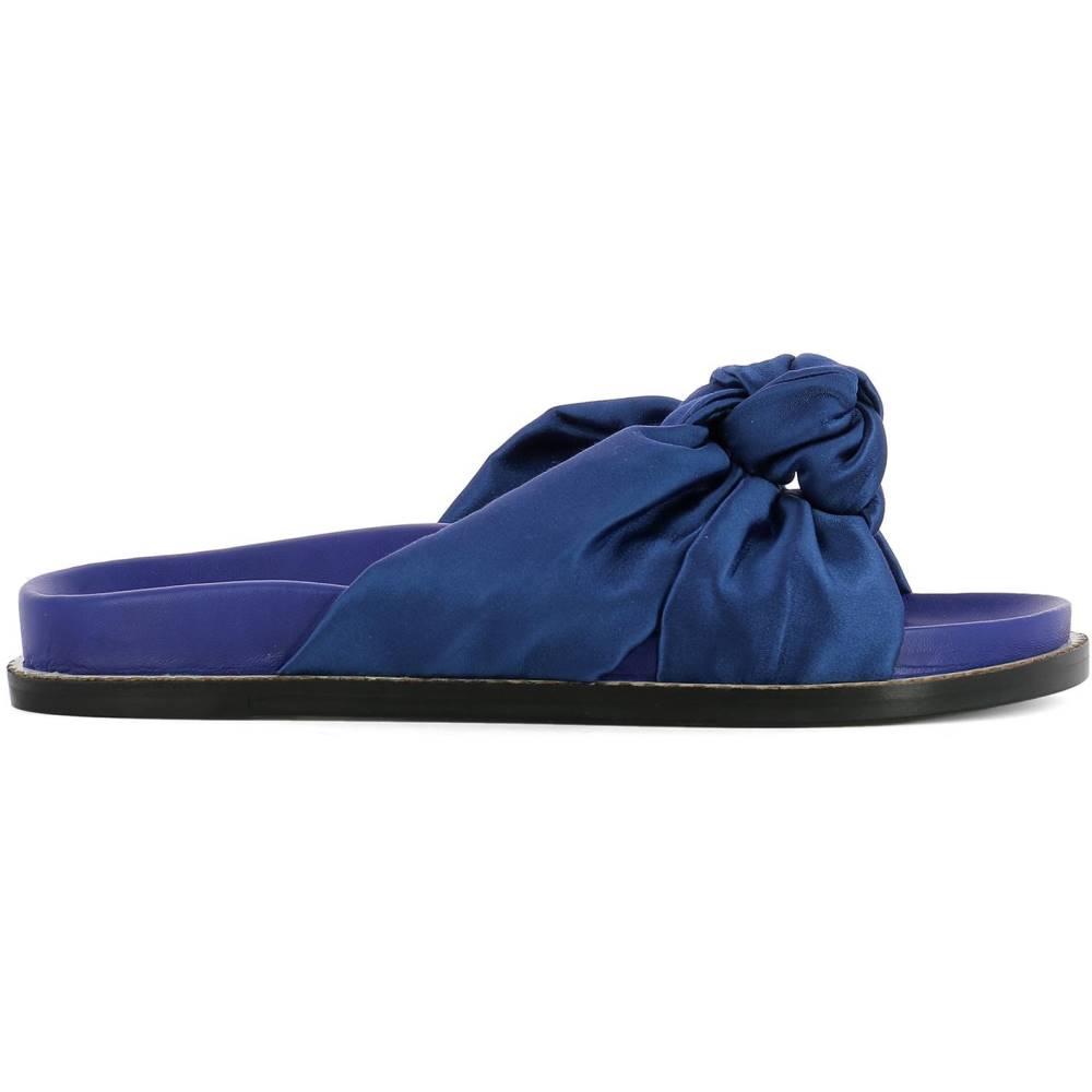 エトロ レディース シューズ・靴 サンダル・ミュール【Blue leather sandals】Blue