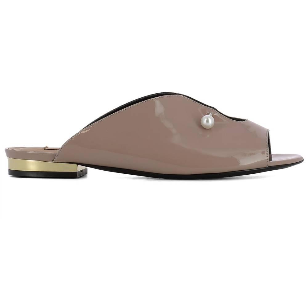 コリアック レディース シューズ・靴 サンダル・ミュール【Pink leather Giada loafers】Beige