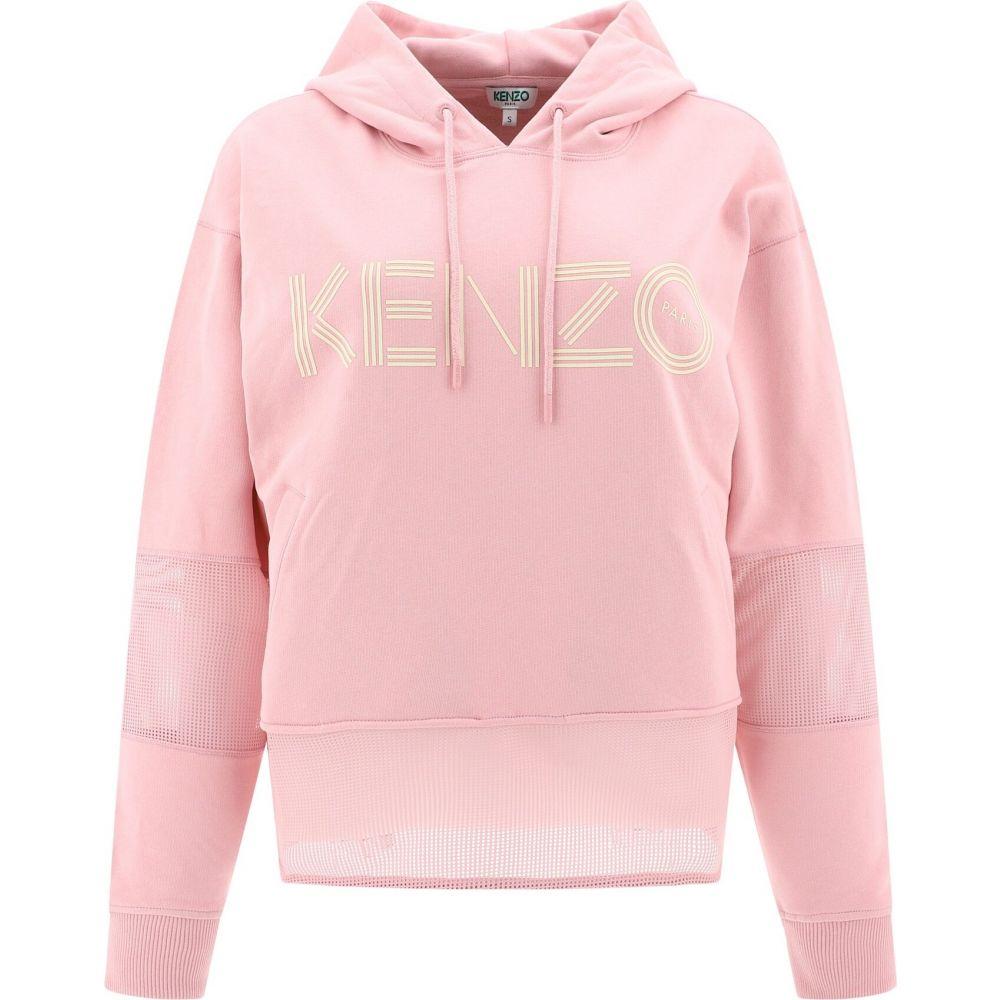 ケンゾー Kenzo レディース パーカー トップス【Hooded sweatshirt with inserts】Pink