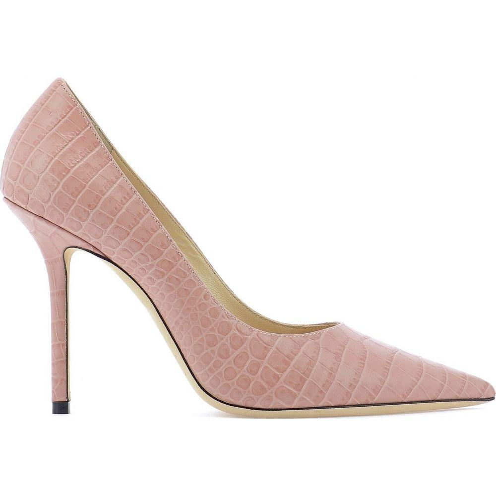 ジミー チュウ Jimmy Choo レディース パンプス シューズ・靴【Leather pump with crocodile print】Pink