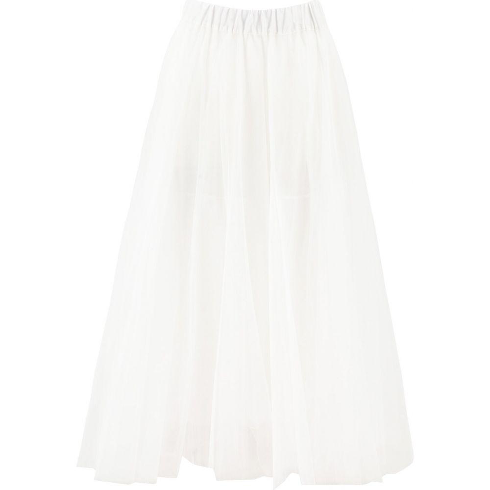 パロッシュ P.A.R.O.S.H. レディース ロング・マキシ丈スカート スカート【Long tulle skirt】White