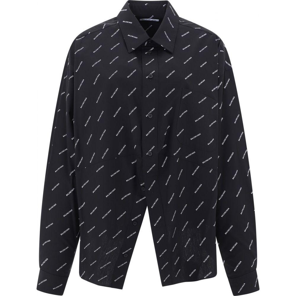 バレンシアガ Balenciaga レディース ブラウス・シャツ トップス【All-over logo shirt】Black