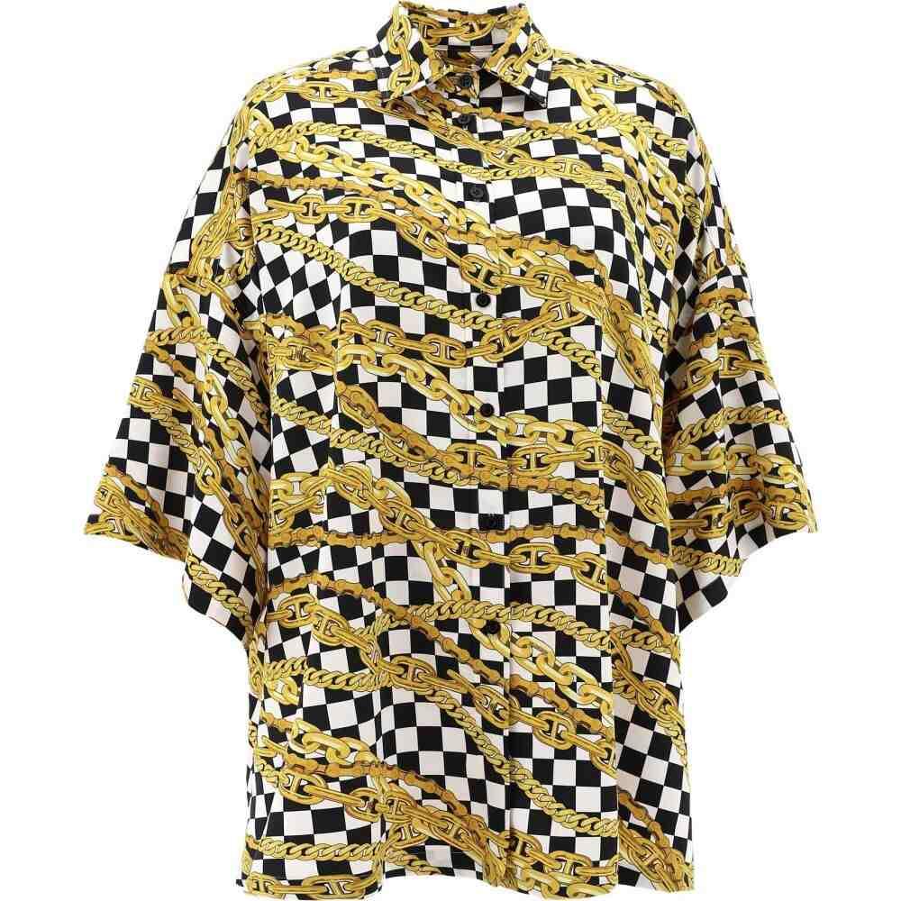 バレンシアガ Balenciaga レディース ブラウス・シャツ トップス【Shirt with check and chains print】Multicolor