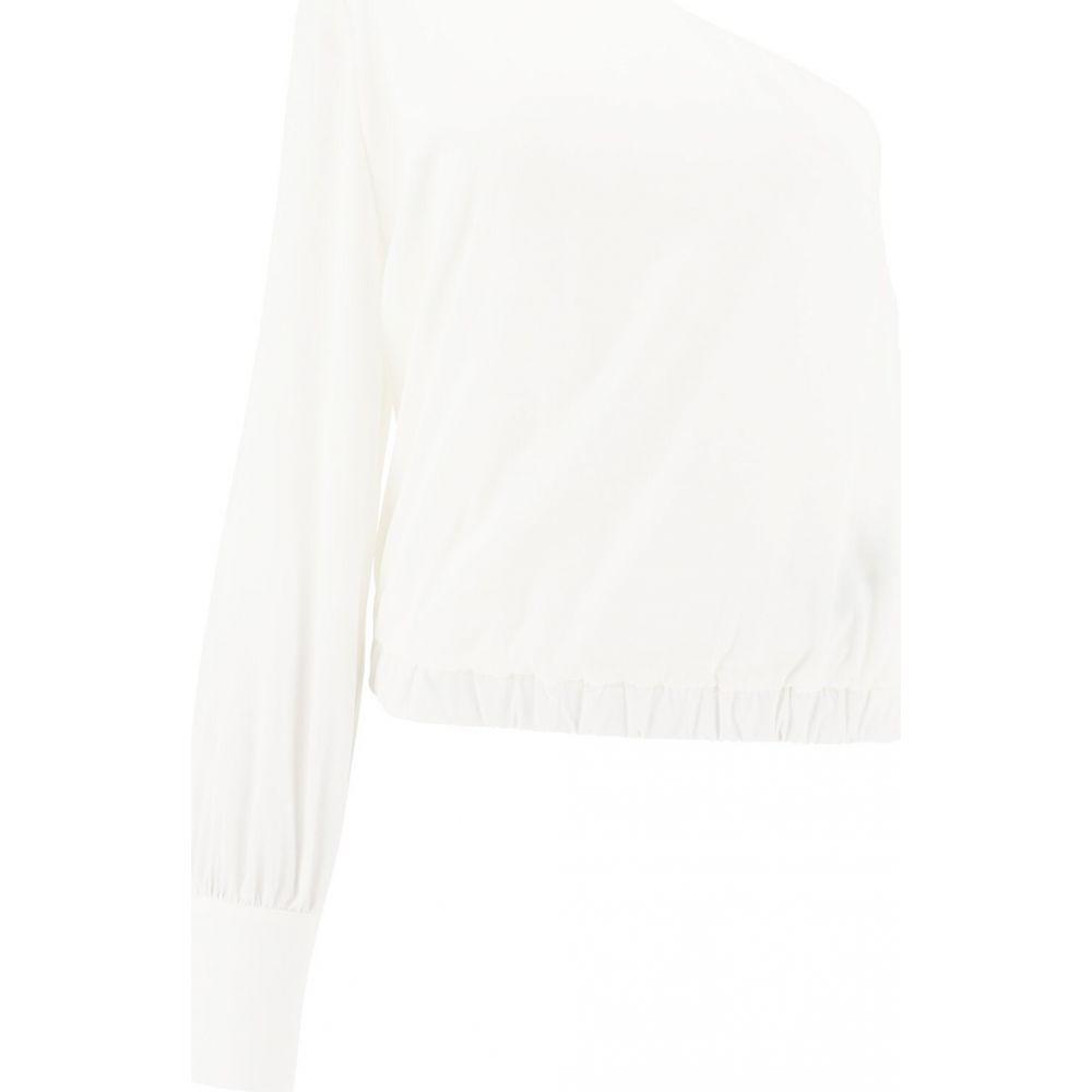 フェデリカ Federica Tosi レディース トップス ワンショルダー【One-shoulder silk top】White