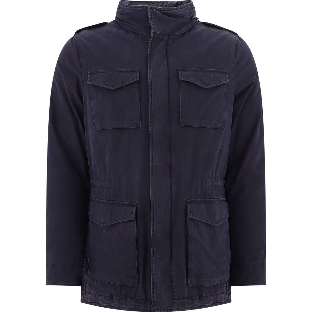 ヘルノ Herno メンズ ダウン・中綿ジャケット ミリタリージャケット アウター【Padded Military Jacket】Blue