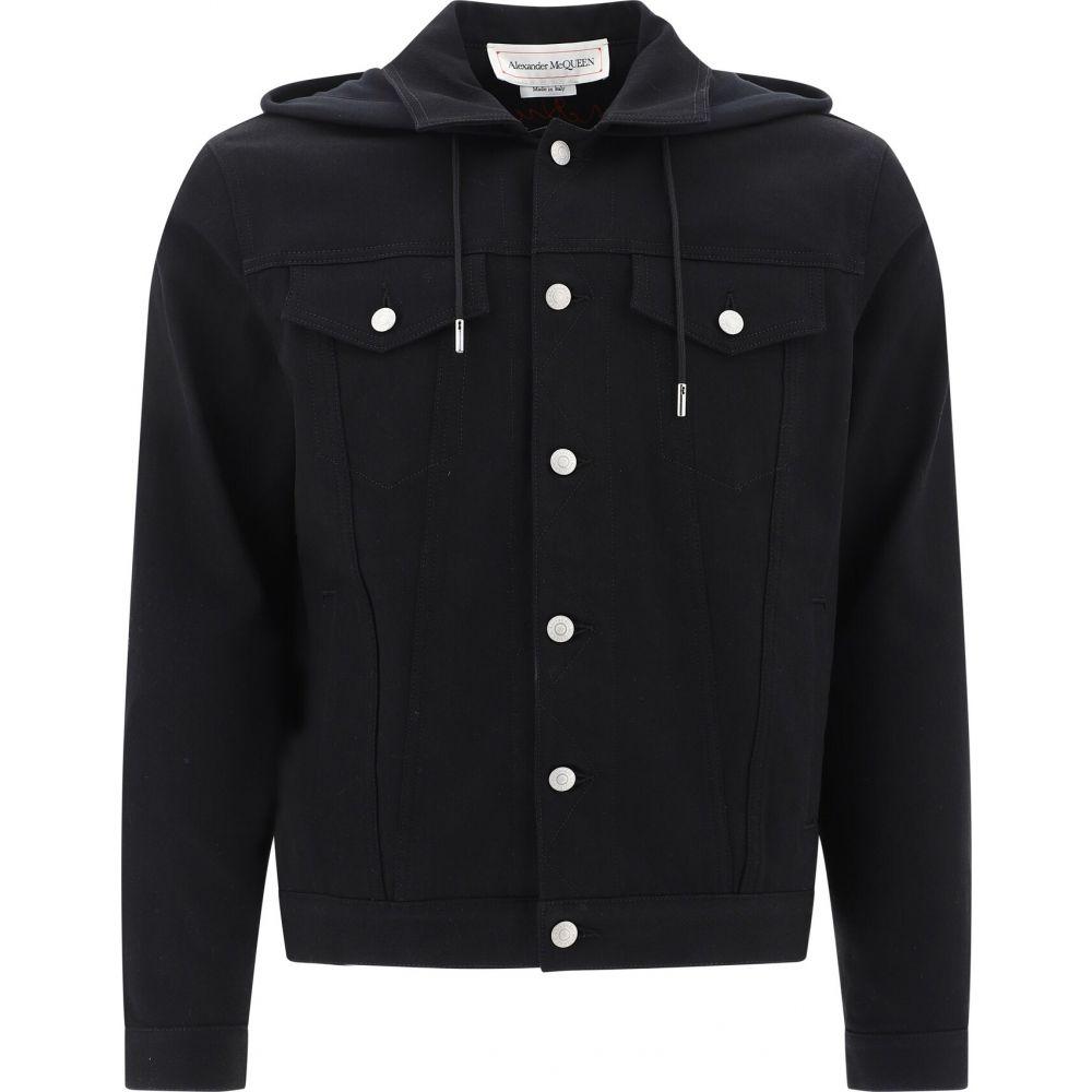 アレキサンダー マックイーン Alexander McQueen メンズ ジャケット Gジャン アウター【Stretch Denim Jacket】Black