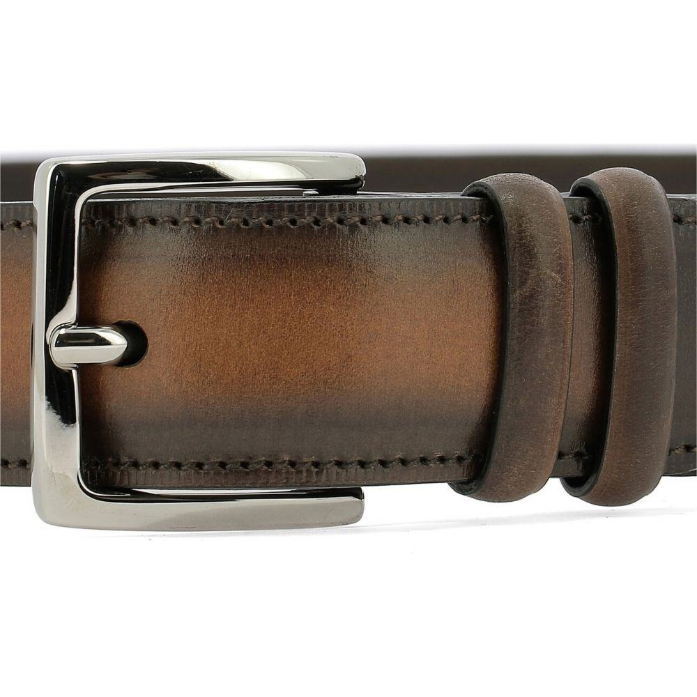 オルチアーニ Orciani メンズ ベルト 【Leather Belt With Metal Buckle】Brown
