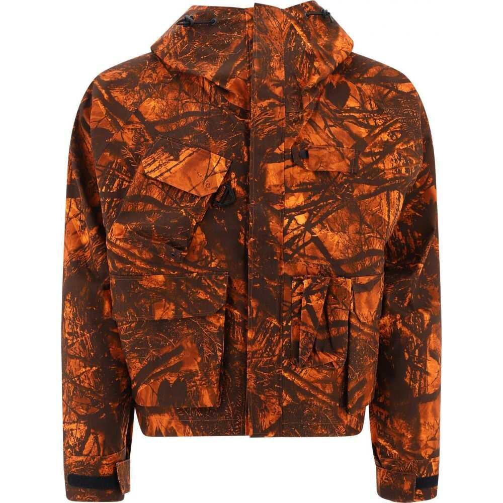 サウス2 ウエスト8 South2 West8 メンズ ジャケット フード アウター【Hooded Jacquard Jacket】Orange