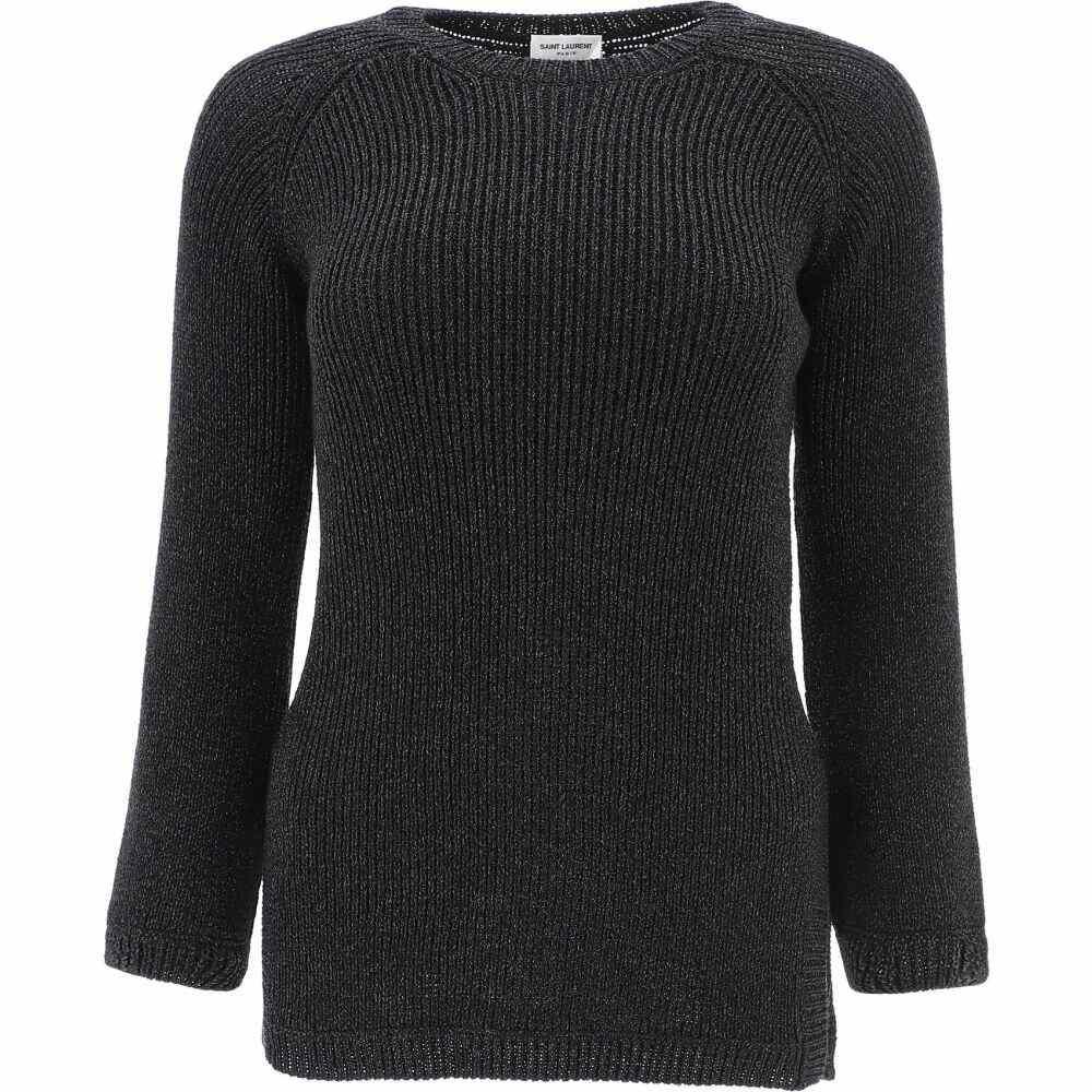 イヴ サンローラン Saint Laurent レディース ニット・セーター トップス【Stretch Sweater With Lurex】Black