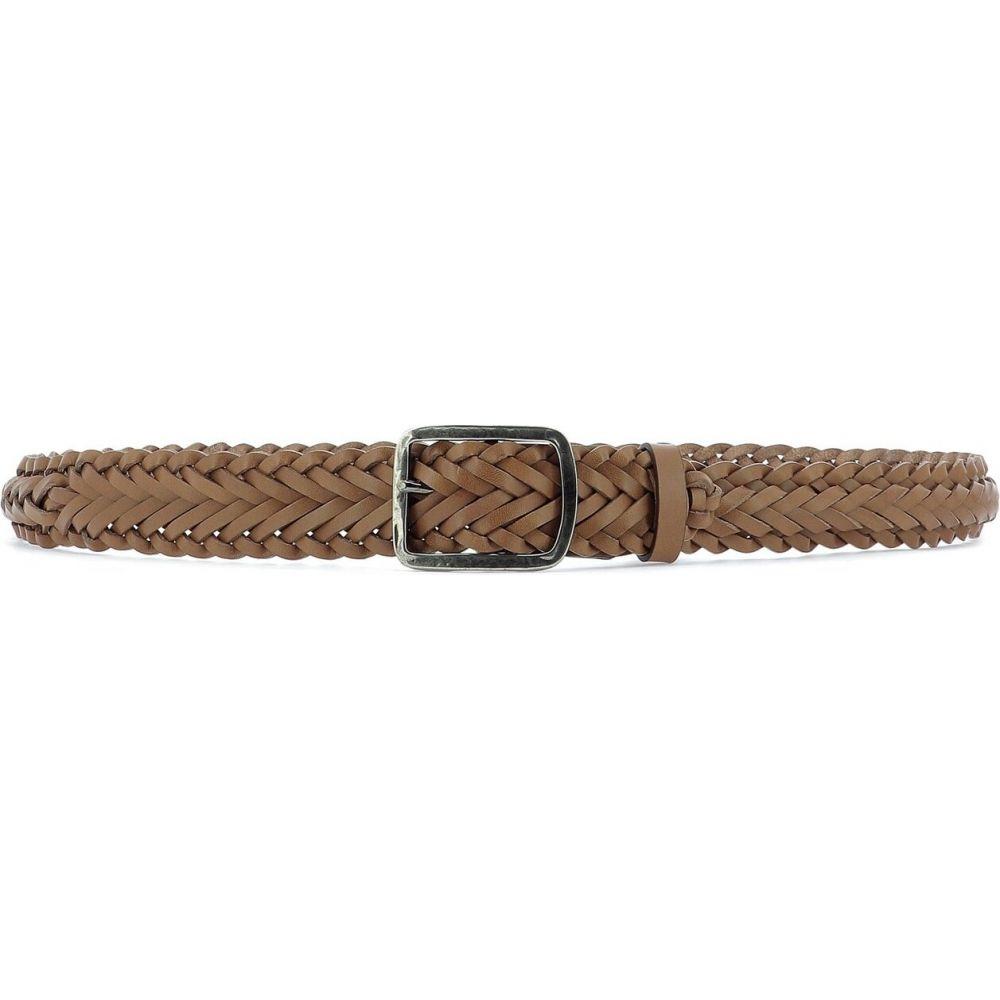 イルビゾンテ Il Bisonte レディース ベルト 【Woven Leather Belt】Brown