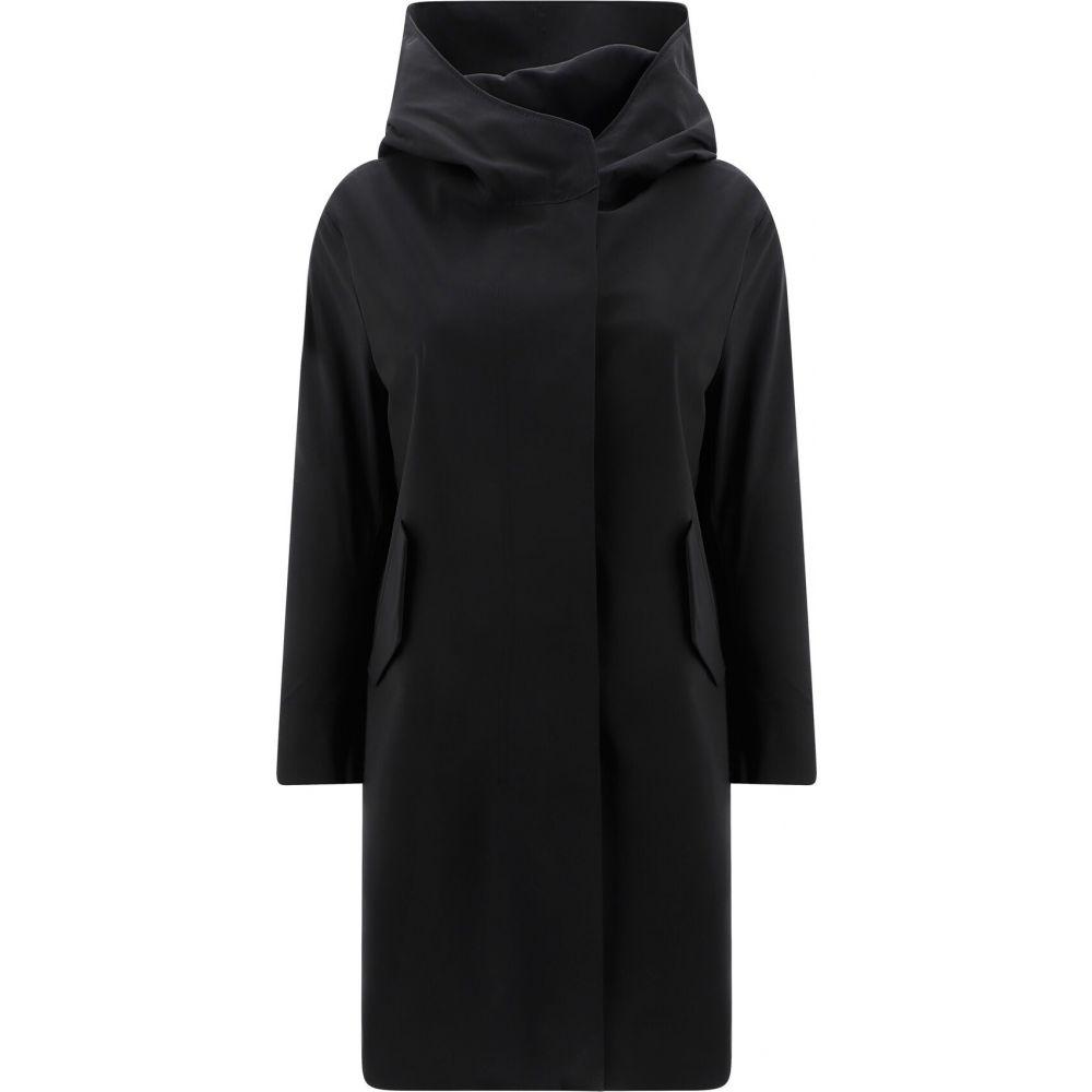 ハリスワーフロンドン Harris Wharf London レディース コート アウター【Parka With Hood】Black