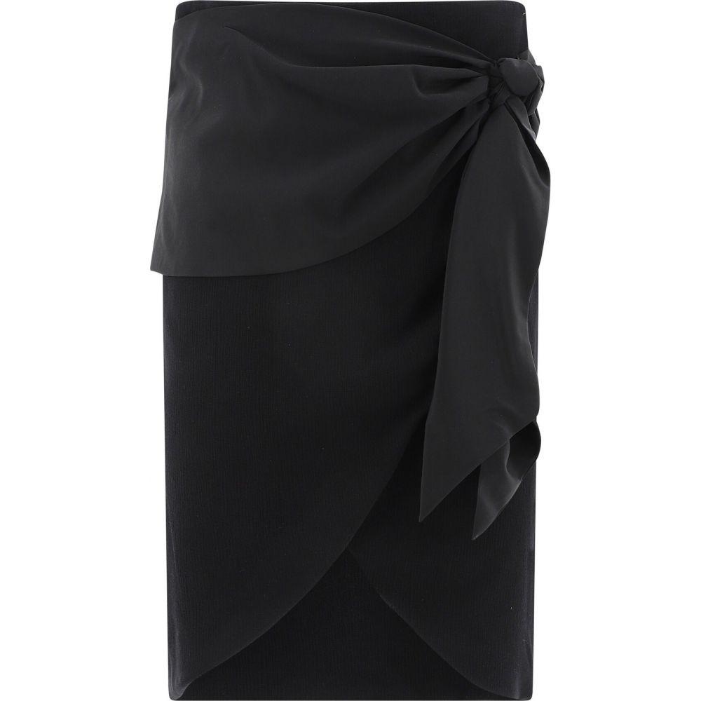 フェデリカ Federica Tosi レディース ひざ丈スカート ラップスカート スカート【Wrap Silk Skirt】Black