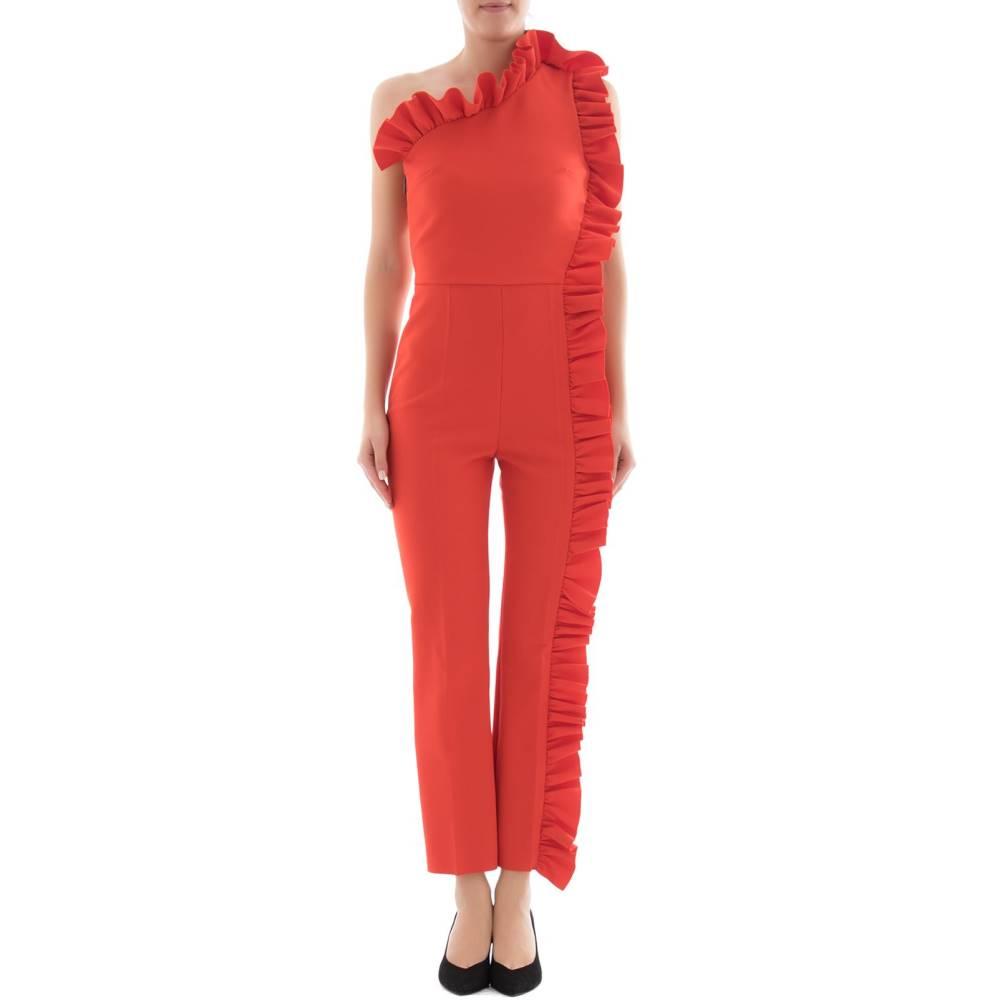 エムエスジーエム レディース ワンピース・ドレス オールインワン【Red one-shoulder jumpsuit】Red