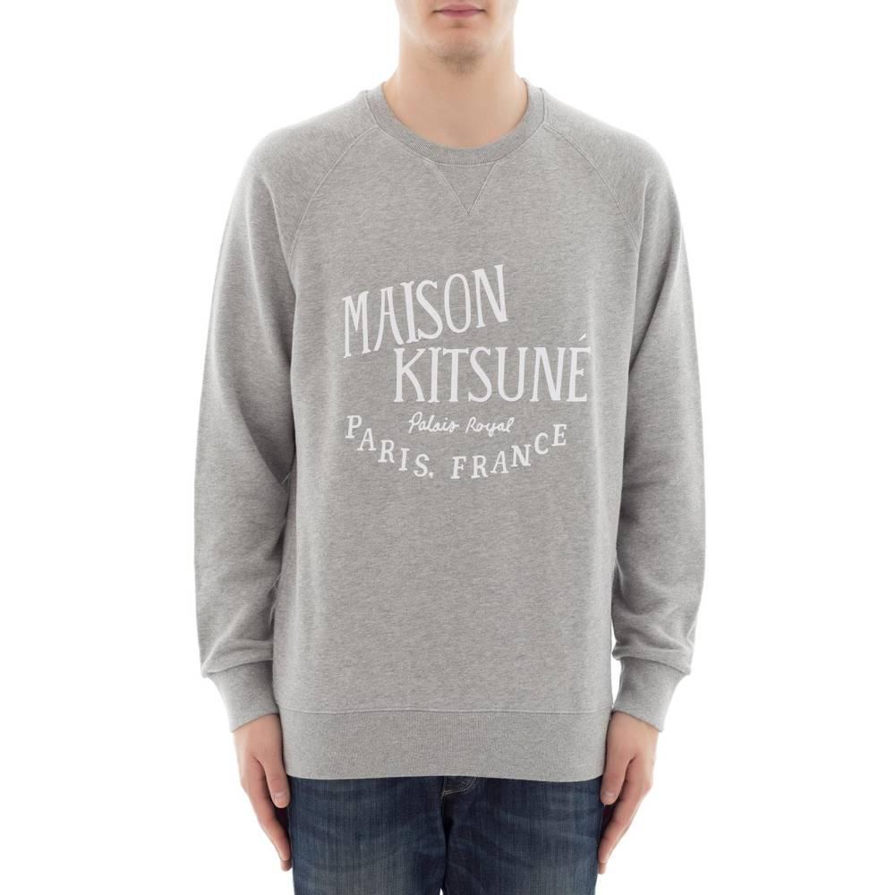 メゾン キツネ メンズ トップス スウェット・トレーナー【Grey cotton sweater】Grey