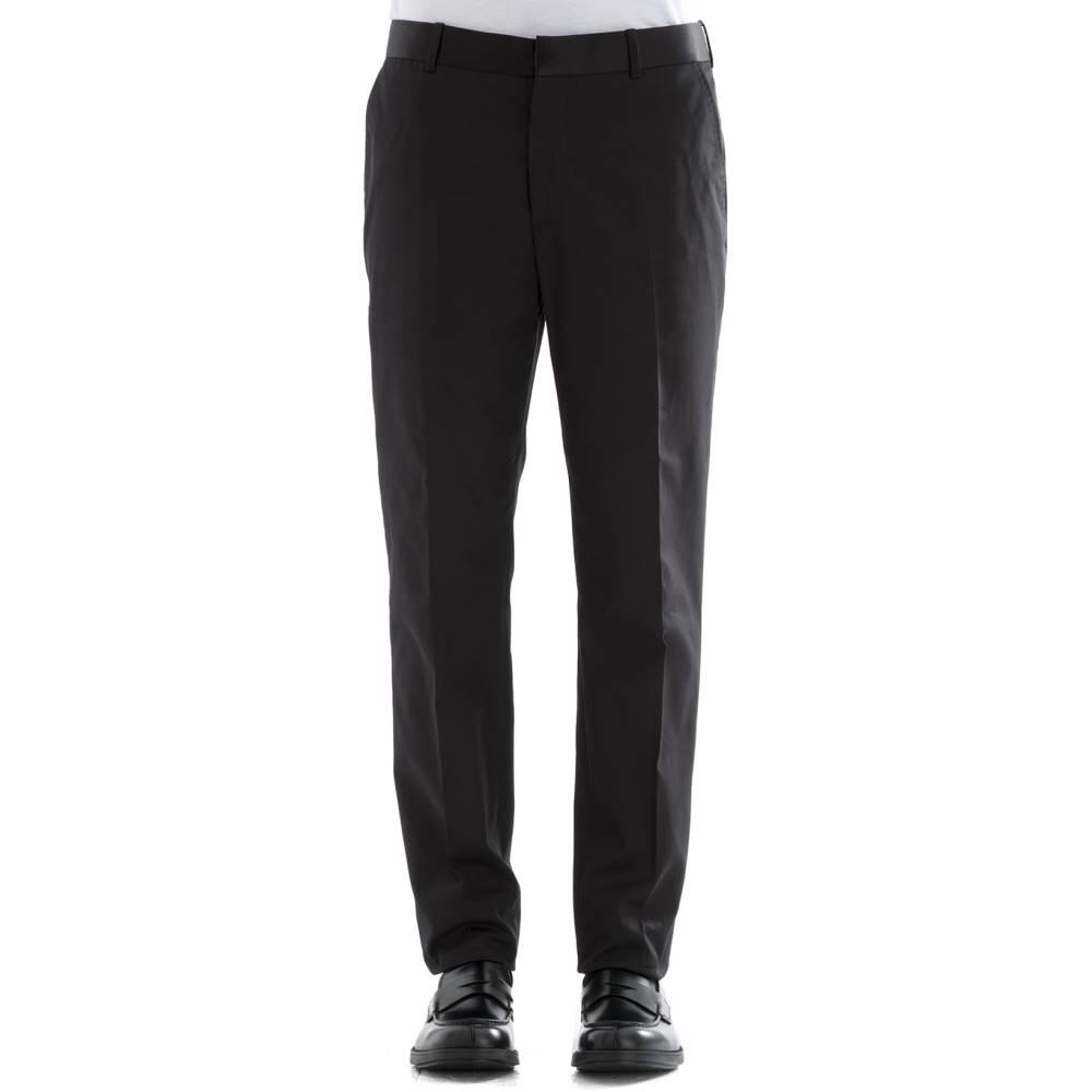 アレキサンダー マックイーン メンズ ボトムス・パンツ【Black cotton pants】Black