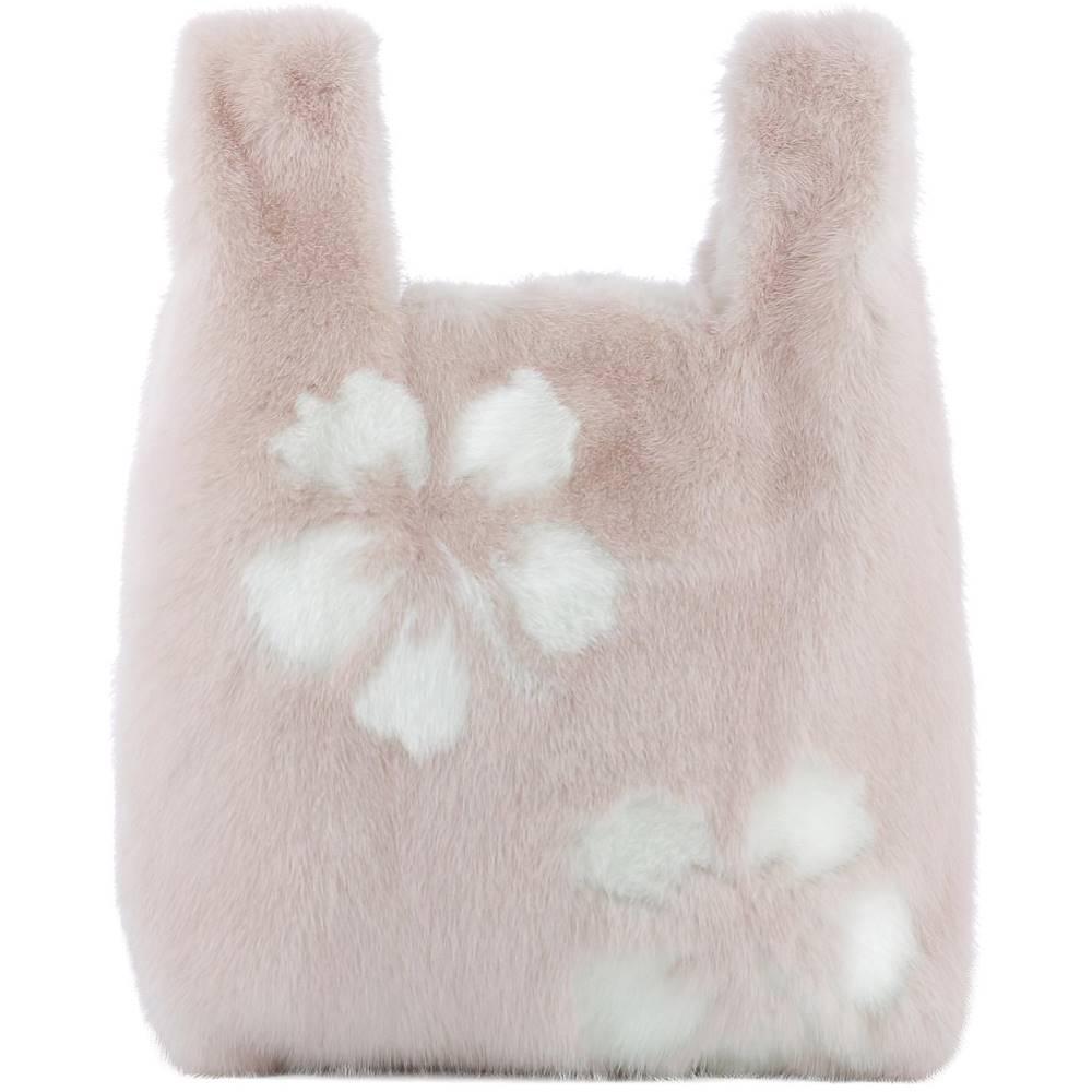 シモネッタ ラヴィッツァ レディース バッグ ハンドバッグ【Pink fur handle bag】Pink