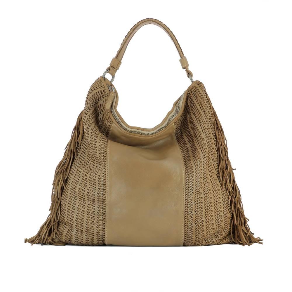 レプタイルズハウス レディース バッグ ハンドバッグ【Beige leather handle bag】Beige