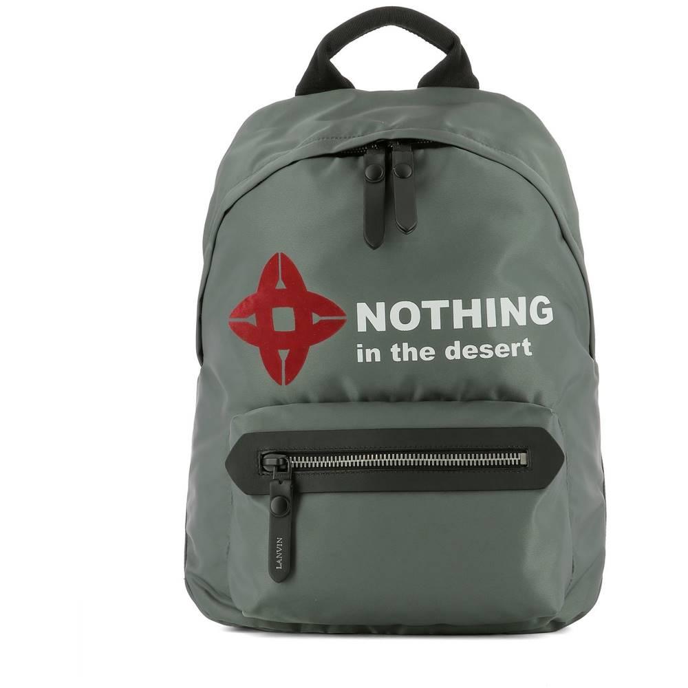 ランバン メンズ バッグ バックパック・リュック【Grey fabric backpack】Grey