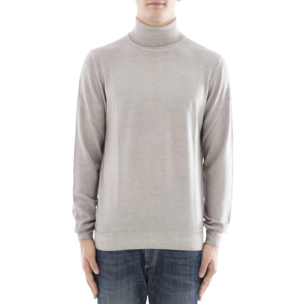 グラン サッソ メンズ トップス ニット・セーター【Grey wool turtleneck】Grey