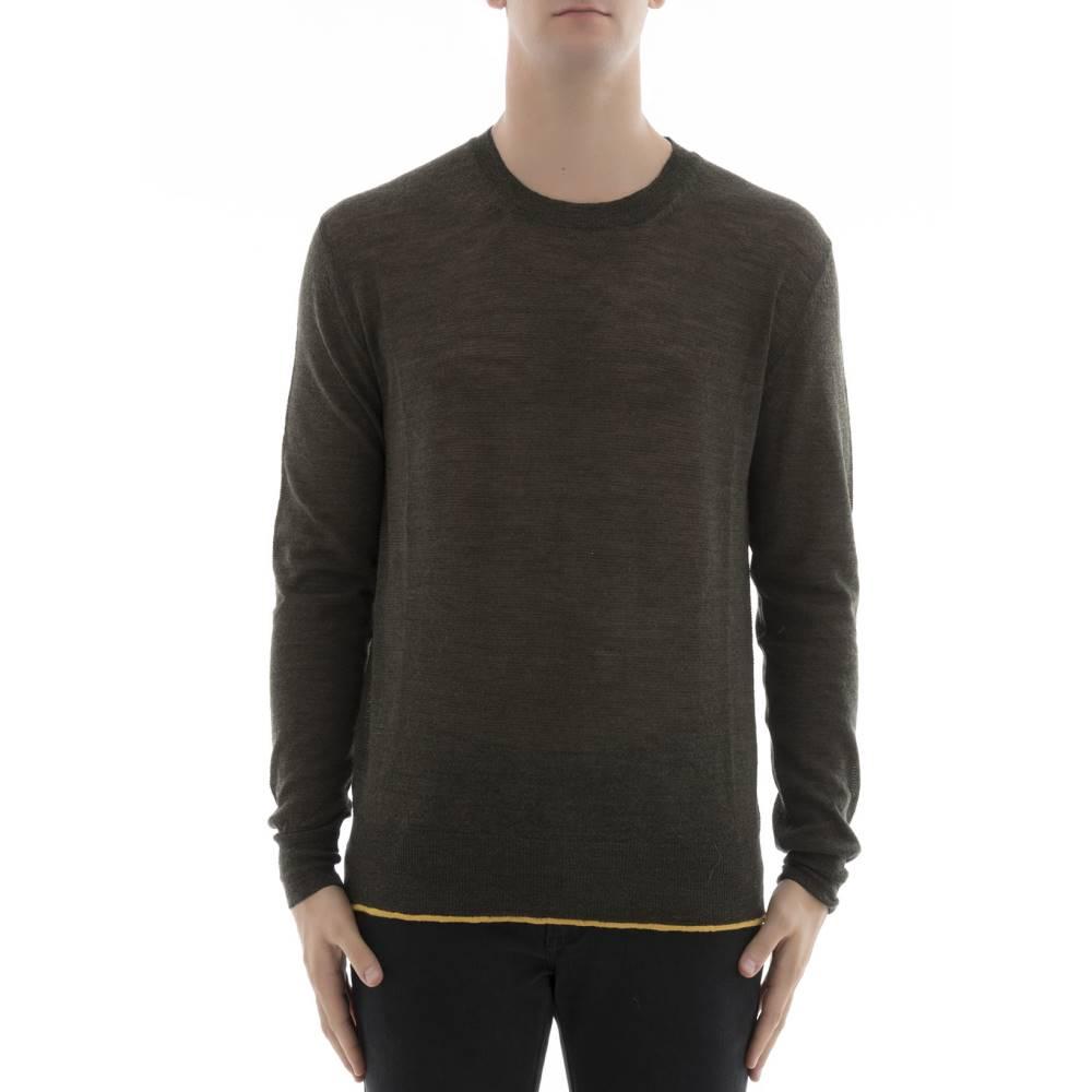 ランバン メンズ トップス スウェット・トレーナー【Military green wool sweatshirt】Green