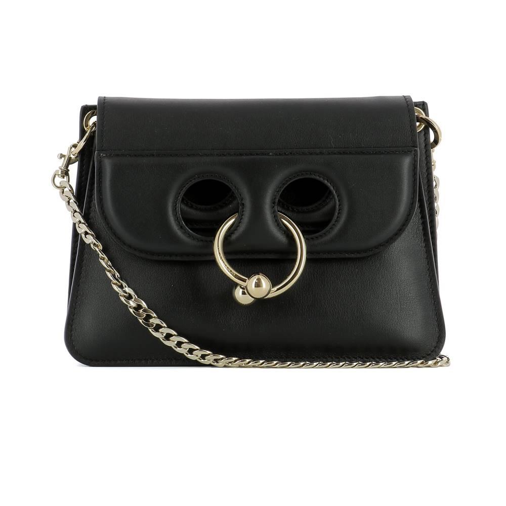 J.W.アンダーソン レディース バッグ ショルダーバッグ【Black leather shoulder bag】Black