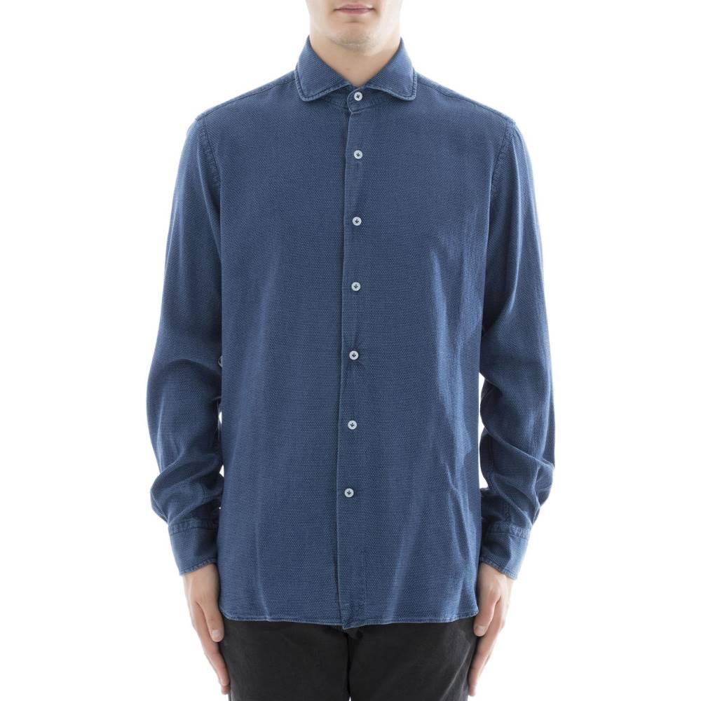 オリアン メンズ トップス シャツ【Blue lyocell shirt】Blue