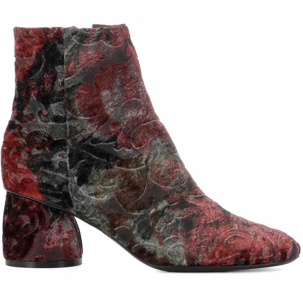 ストラテジア レディース シューズ・靴 ブーツ【Multicolor velvet ankle boots】Multicolor