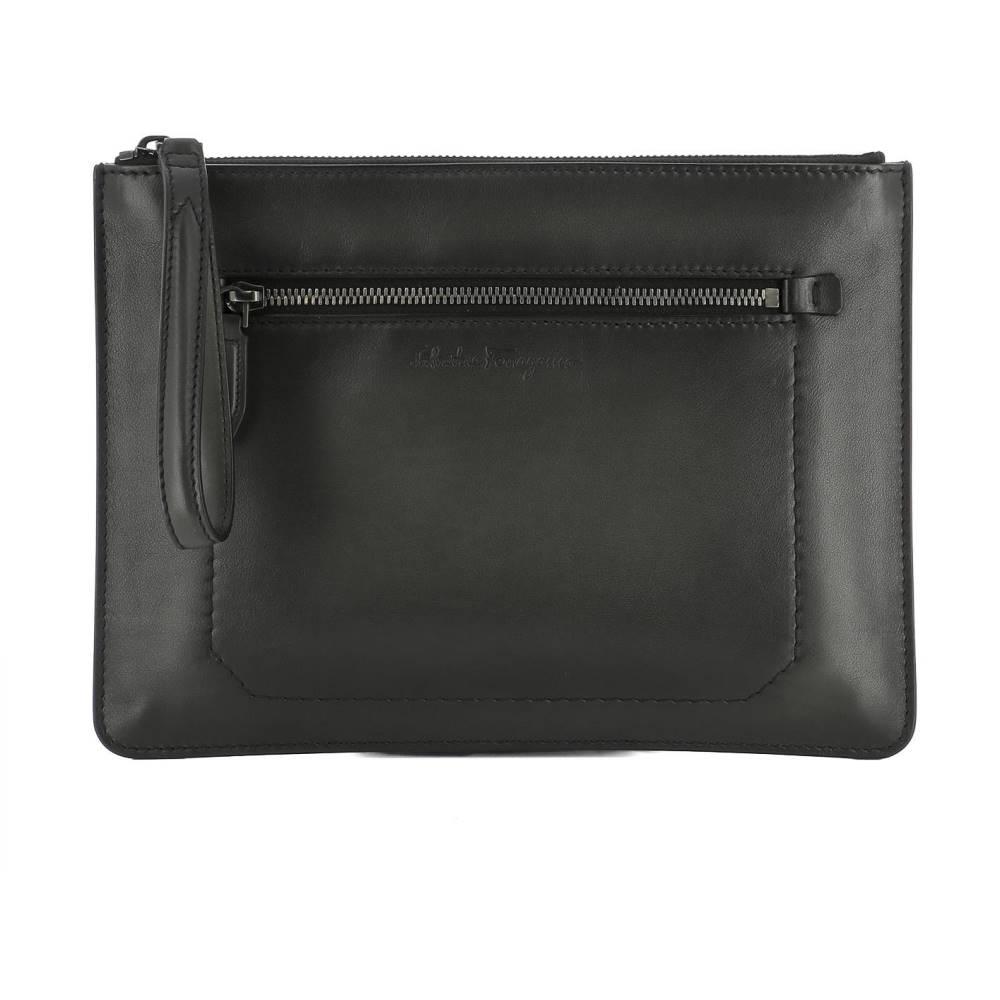 サルヴァトーレ フェラガモ レディース バッグ【Black leather pochette】Black