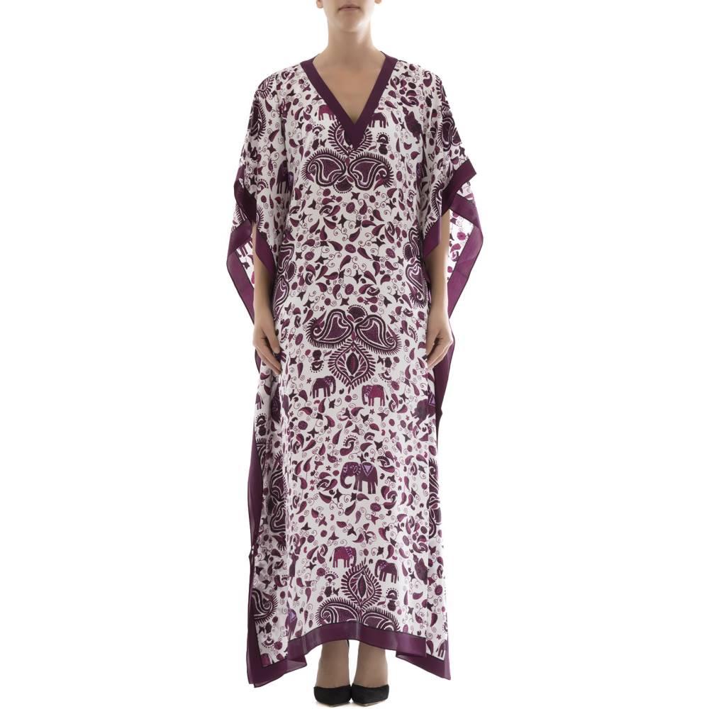 ディアノラサルヴァティ レディース ワンピース・ドレス ワンピース【Purple silk caftan】Purple