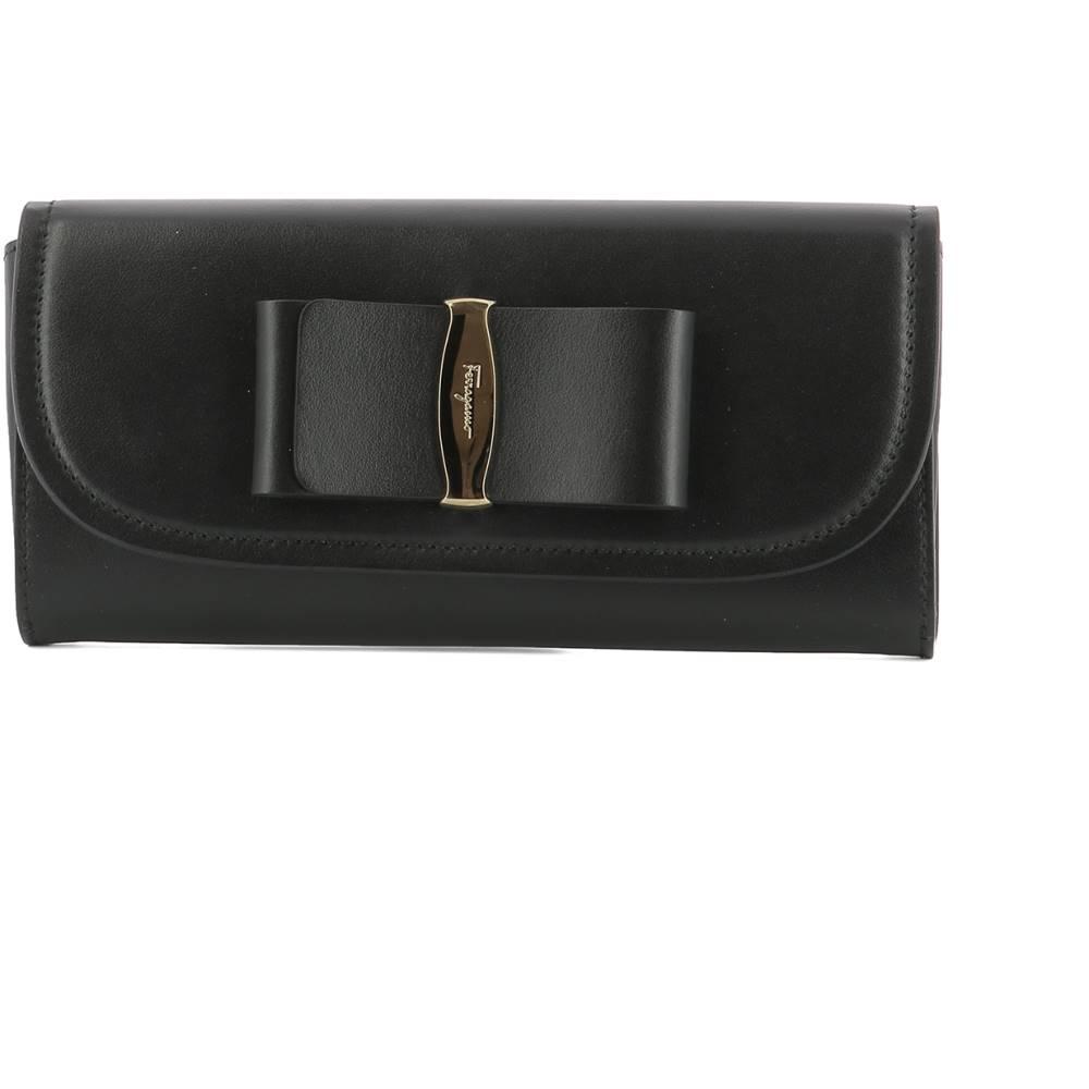 サルヴァトーレ フェラガモ レディース 財布【Black leather wallet】Black