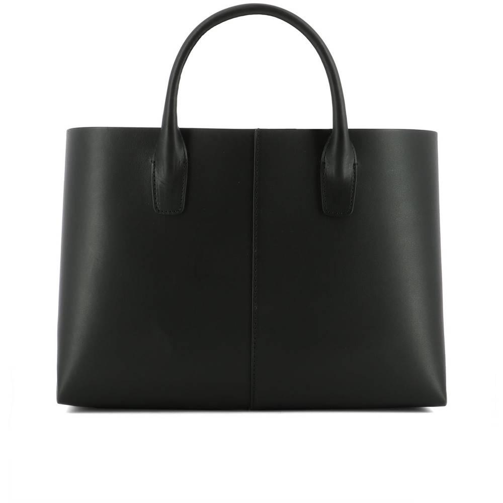 マンサーガブリエル レディース leather バッグ ハンドバッグ handle【Black leather handle bag バッグ】Black, 安来市:5a56e500 --- sunward.msk.ru