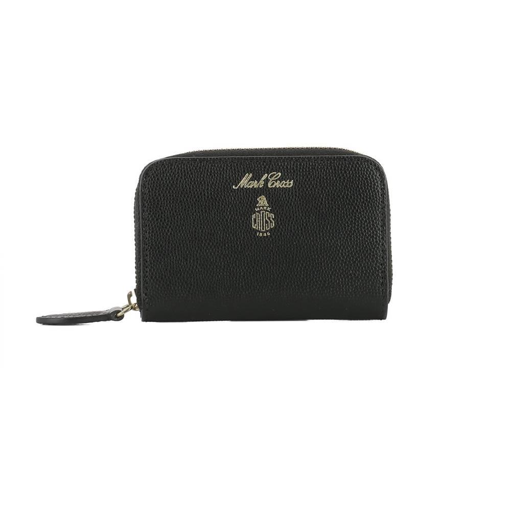 マーククロス レディース 財布【Black leather coin pocket】Black