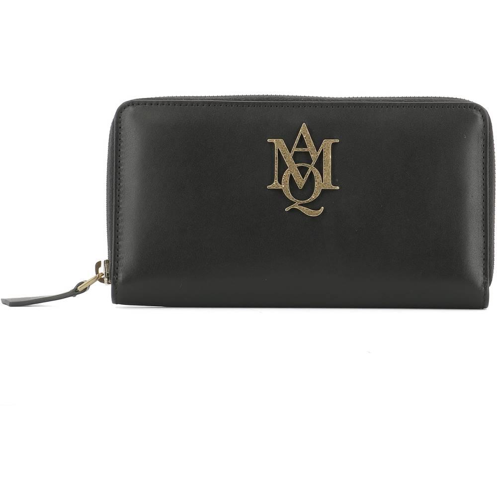 アレキサンダー マックイーン レディース 財布【Black leather wallet】Black