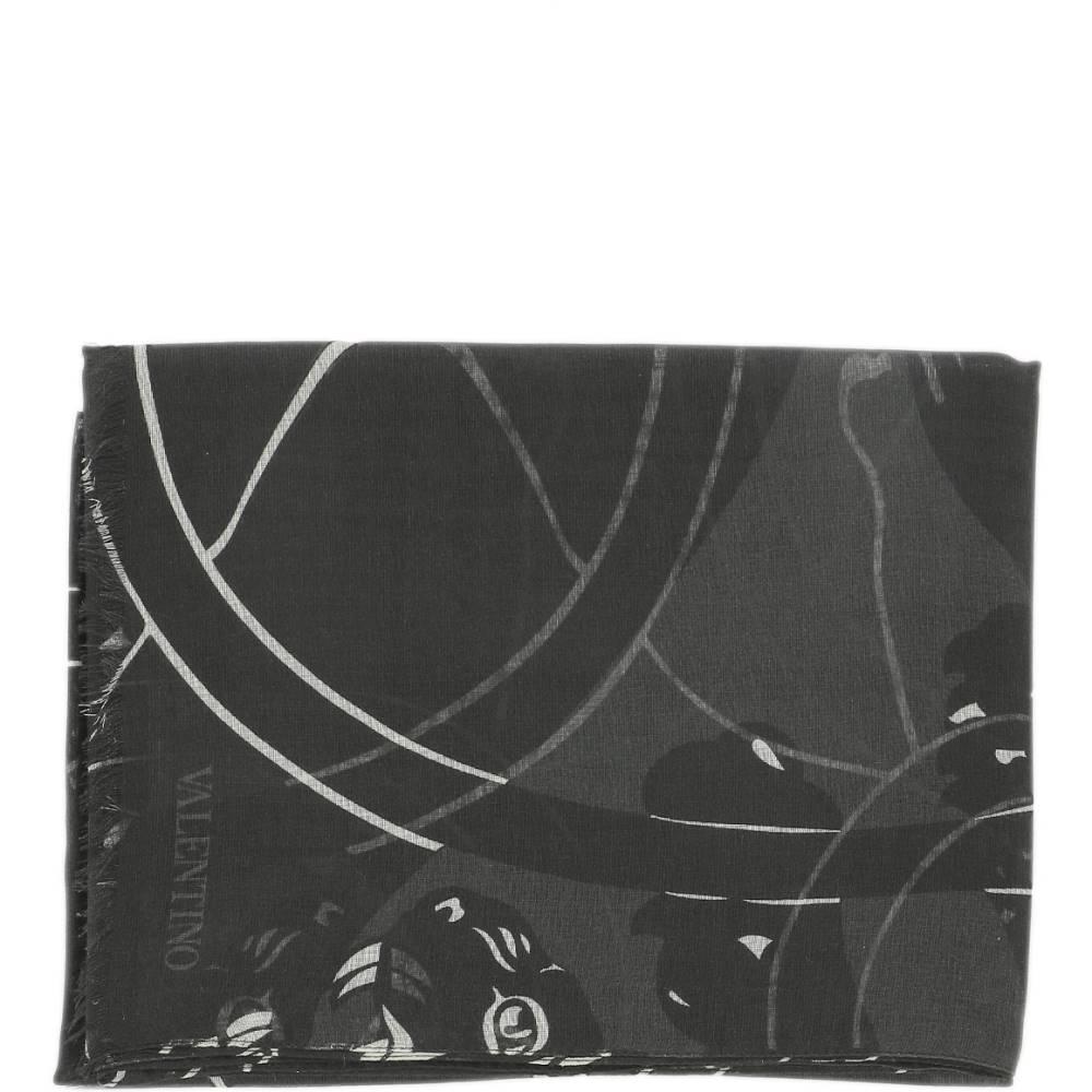 ヴァレンティノ メンズ マフラー・スカーフ・ストール【Black modal scarf】Black