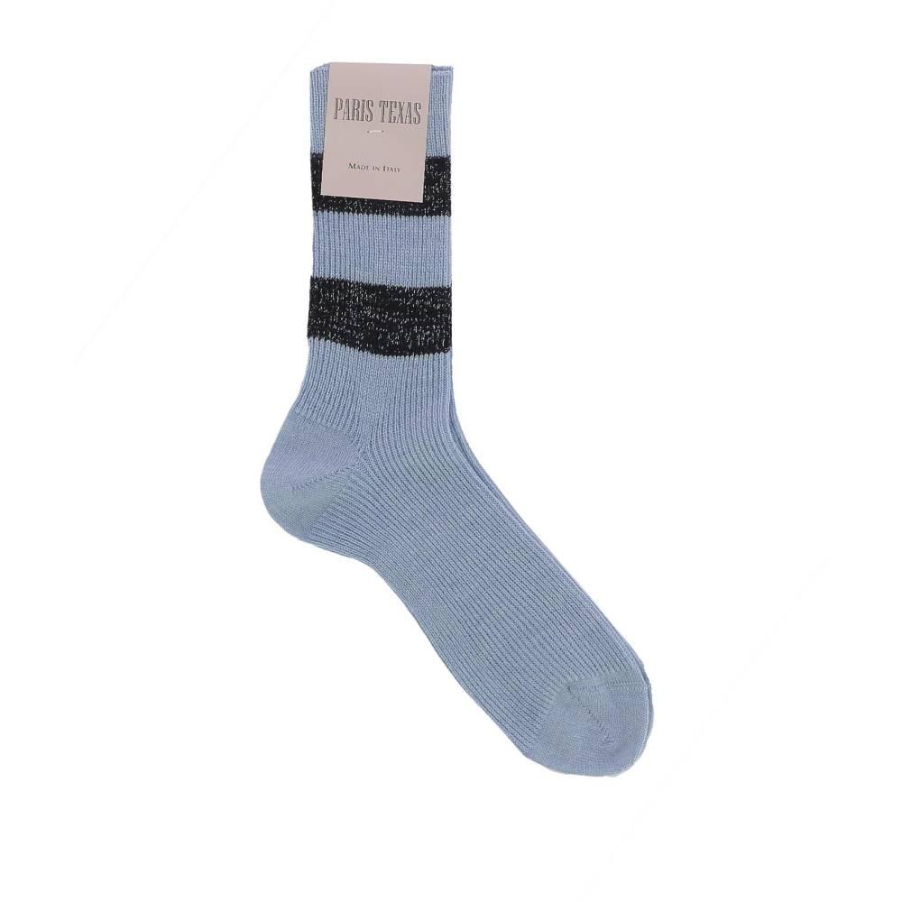 パリ テキサス レディース インナー・下着 ソックス【Light blue wool socks】Light blue