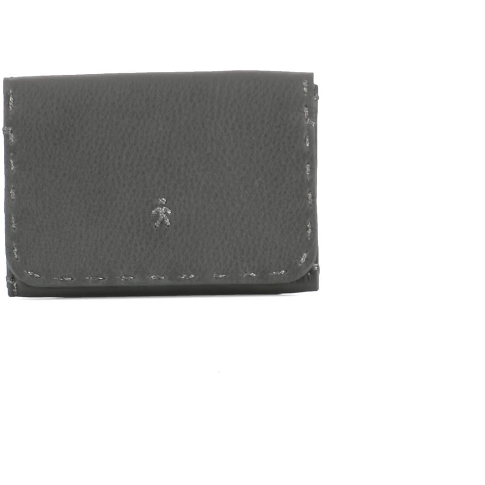 エンリーベグリン レディース カードケース・名刺入れ【Grey leather card holder】Grey