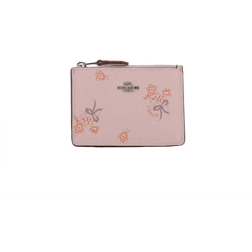 コーチ レディース カードケース・名刺入れ【Pink leather card holder】Pink