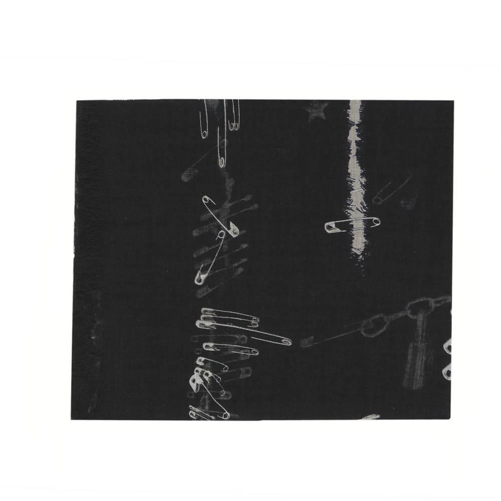 アレキサンダー マックイーン メンズ マフラー・スカーフ・ストール【Black silk foulard】Black