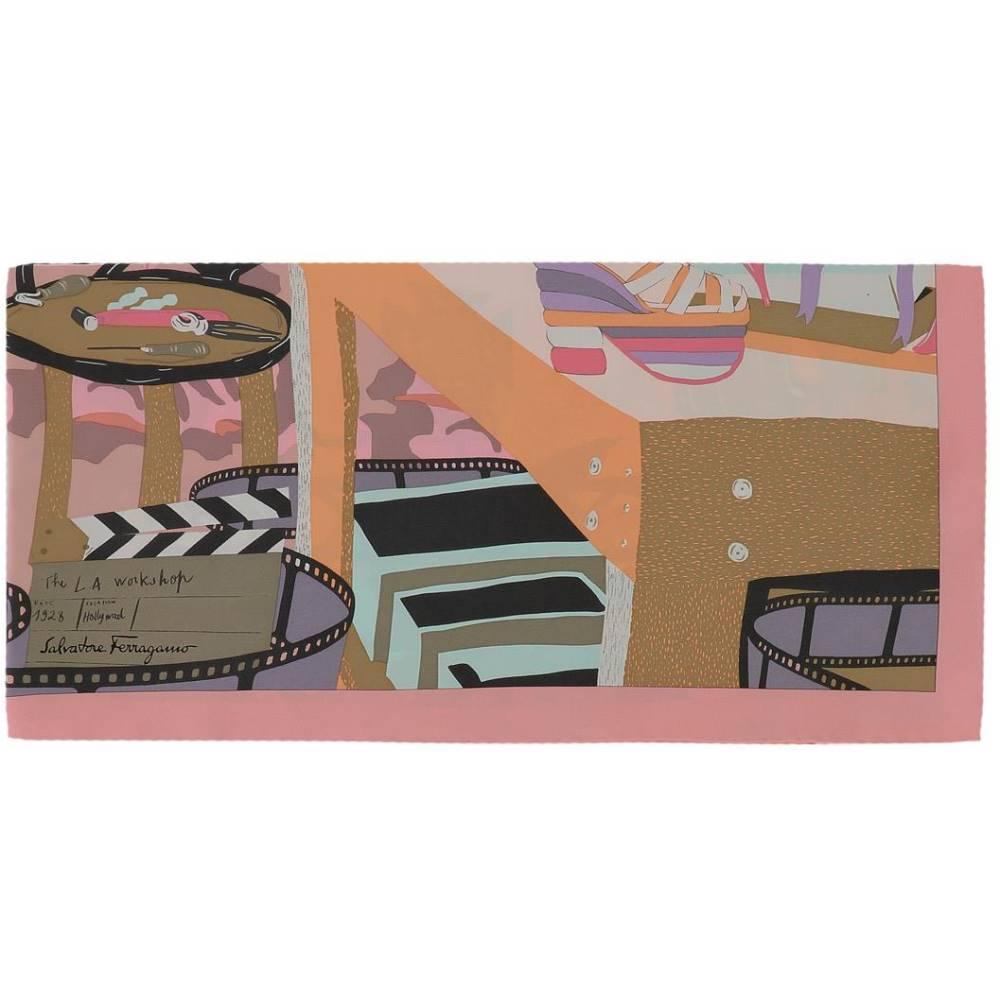 サルヴァトーレ フェラガモ レディース マフラー・スカーフ・ストール【Multicolor silk foulard】Multicolor