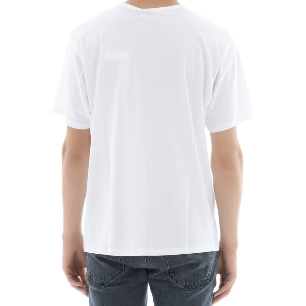 アクネ ストゥディオズ メンズ トップス Tシャツ【White cotton t-shirt】White